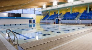 Picture of the 8 lane pool at the Meridian Leisure Centre Louth